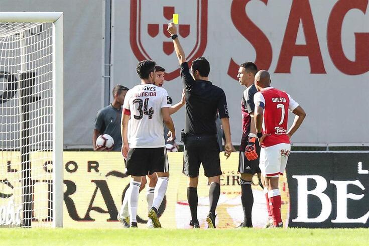 Tiago Martins foi o árbitro do Braga-Benfica de domingo