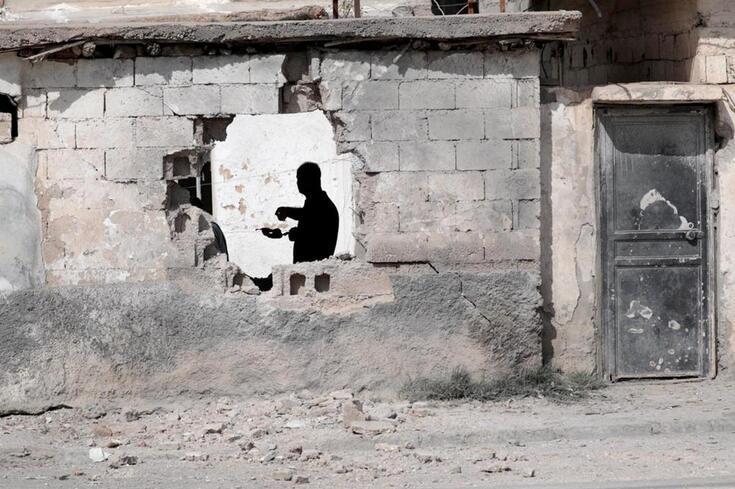 Na fronteira entre a Síria e a Turquia, zona de guerra provocada por uma ofensiva turca contra os curdos