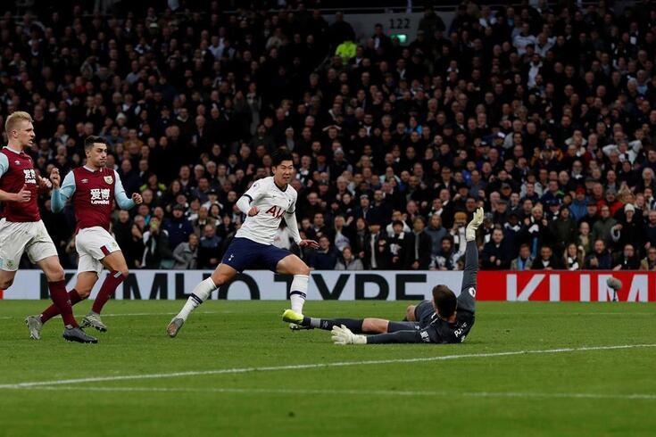 Son marcou um golaço frente ao Burnley.