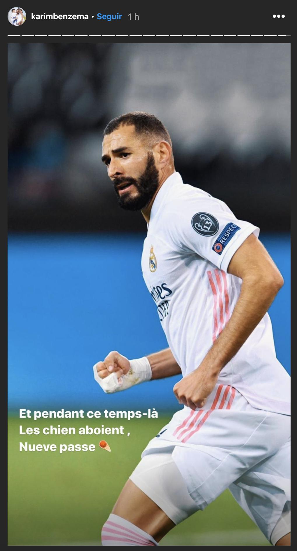 """Benzema reage às polémicas imagens com Mendy: """"Enquanto os cães ladram..."""""""