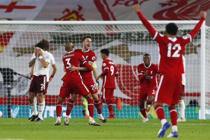 Diogo Jota ajudou ao triunfo do Liverpool