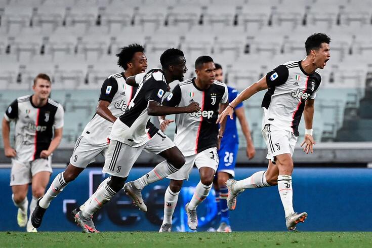 Ronaldo marcou à Sampdória e conquistou título italiano