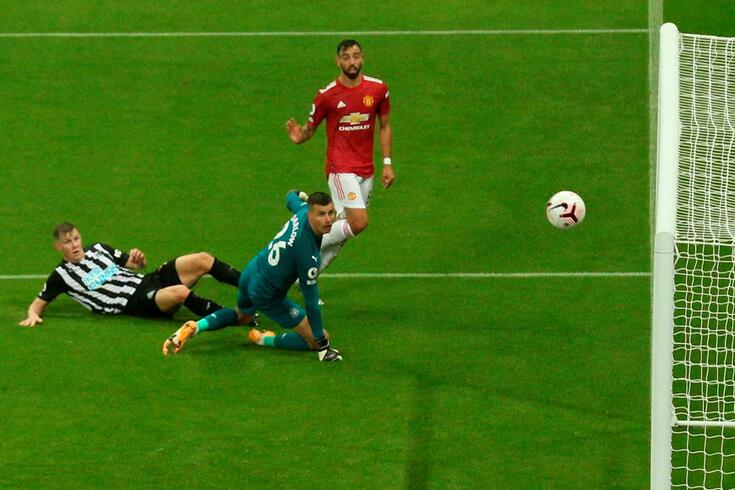 Bruno Fernandes no Newcastle-Manchester United