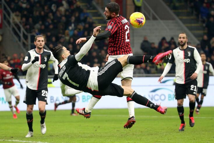 O lance que originou a grande penalidade convertida por Ronaldo