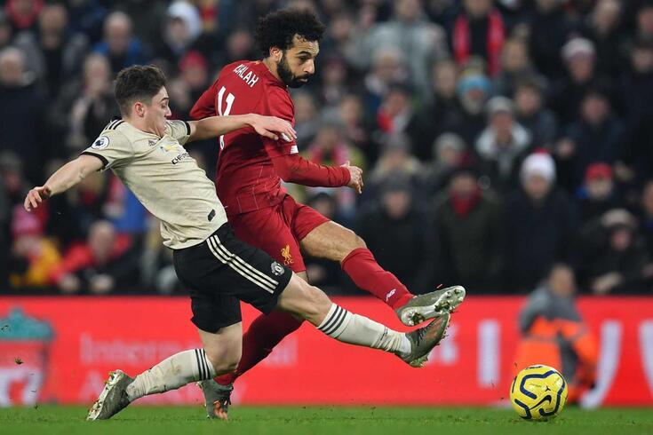 Salah marcou o segundo golo do Liverpool frente ao rival United