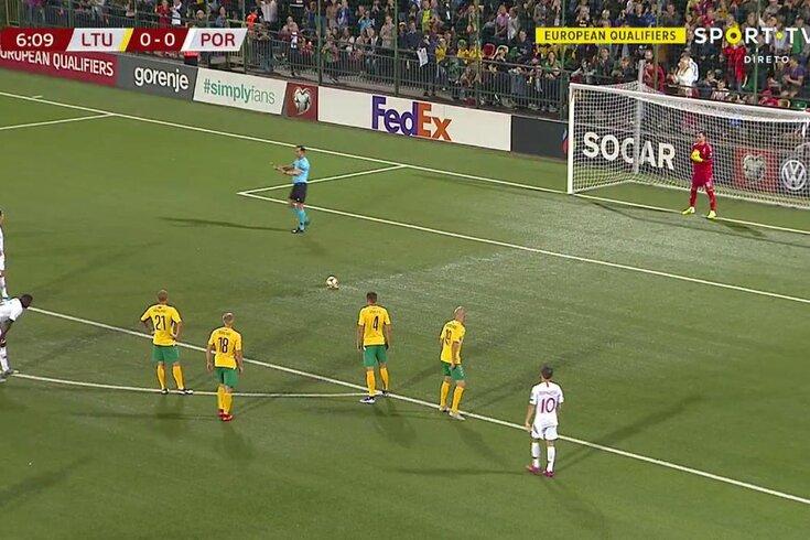 Lituânia-Portugal: golo da Seleção Nacional, golo 90 de Ronaldo