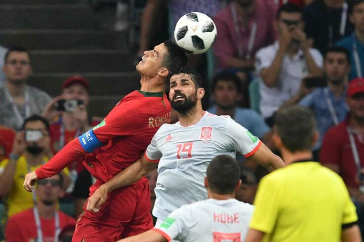 Diego Costa em ação frente a Portugal