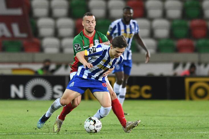Rúben Macedo em noite azarada frente ao FC Porto