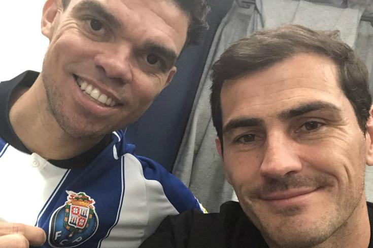 Casillas também deu as boas-vindas a Pepe