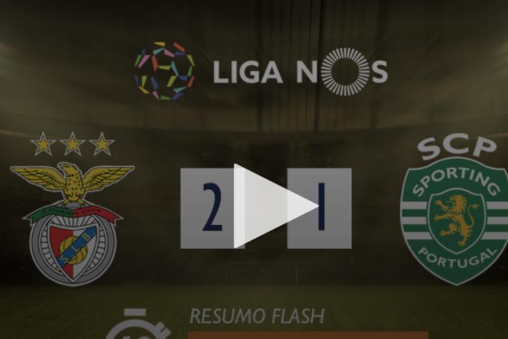 Um minuto que resume a vitória do Benfica frente ao Sporting