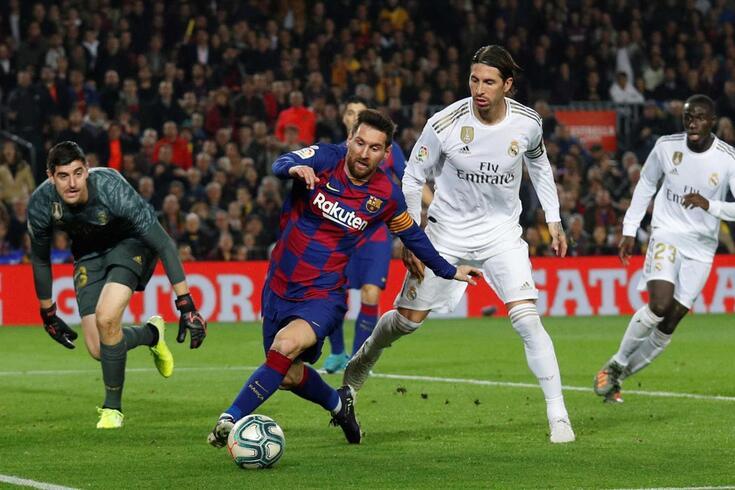 Messi em ação frente ao Real Madrid