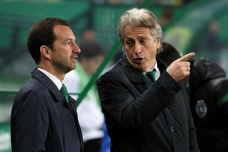 Frederico Varandas com o treinador Jorge Jesus