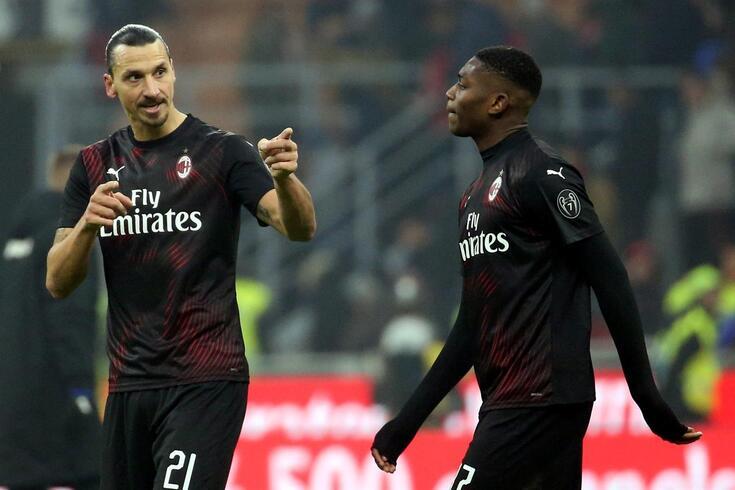 Ibrahimovic e Rafael Leão são colegas no Milan