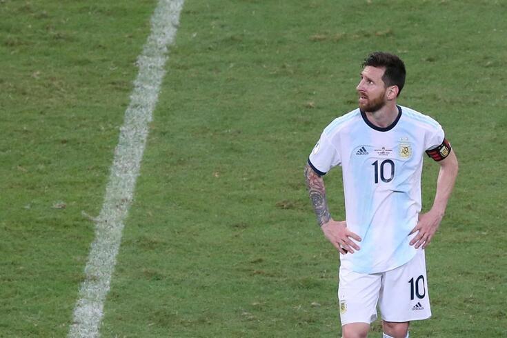 Messi no Argentina-Colômbia da Copa América.