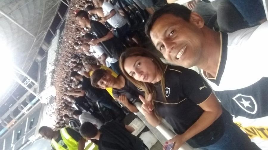 Sérgio Cavalcanti com a esposa, Ana Paula