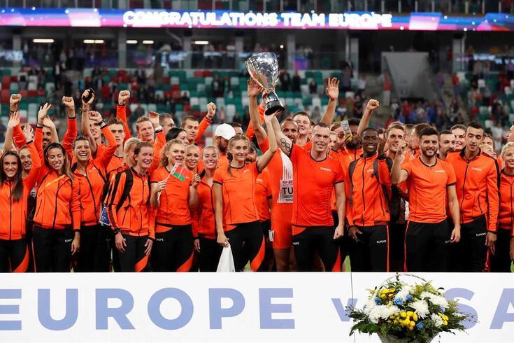 Equipa europeia bateu a formação norte-americana