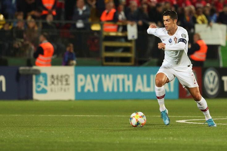 Cristiano Ronaldo marcou quatro golos frente à Lituânia