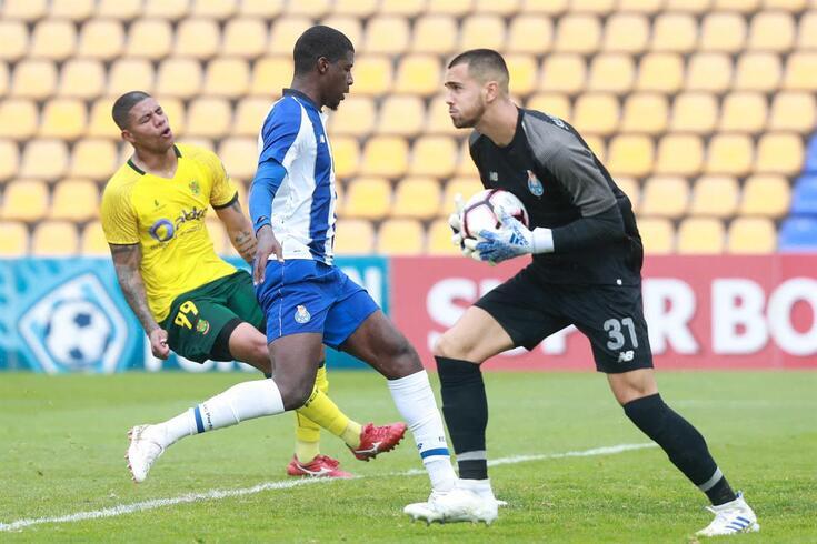 Diogo Costa contra o Paços de Ferreira, um dos 17 jogos que fez pela equipa B