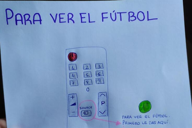 Jovem faz desenho para ajudar avô a ver futebol e a imagem já é viral