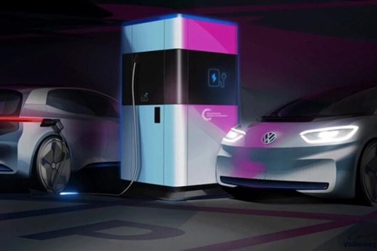 Volkswagen apresenta estação de carga móvel