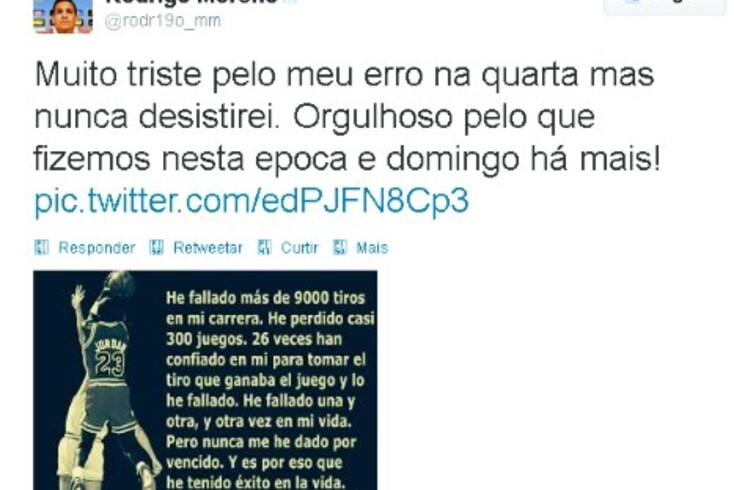 """Rodrigo está """"muito triste"""""""