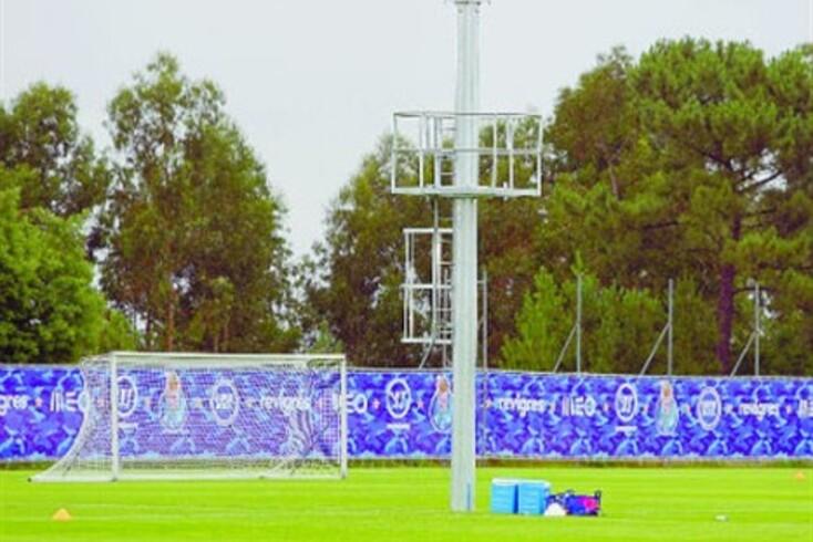 Torre para filmar os treinos