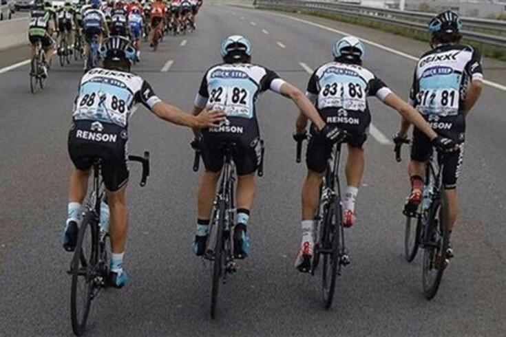 E assim urina um ciclista