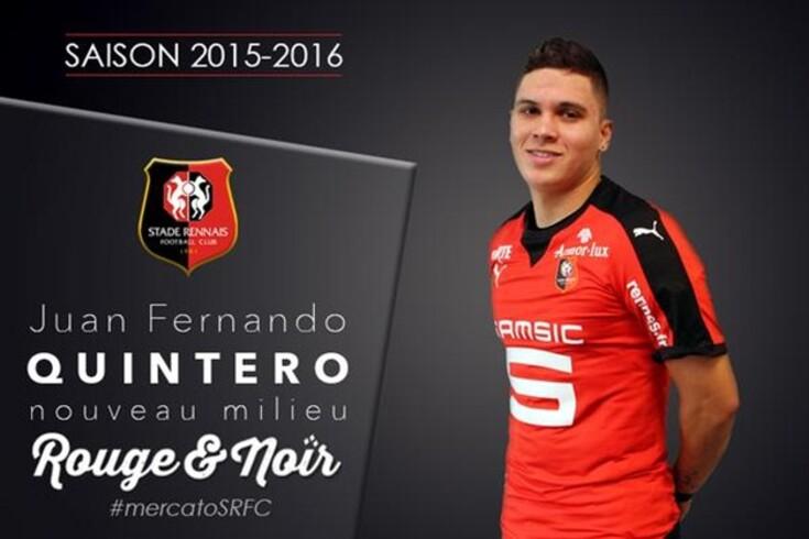 OFICIAL: Quintero emprestado ao Rennes
