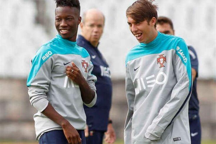 Oeiras, 06/10/2014 - Realizou-se esta manhã no Estádio do Jamor, o treino da Seleção Nacional sub-21