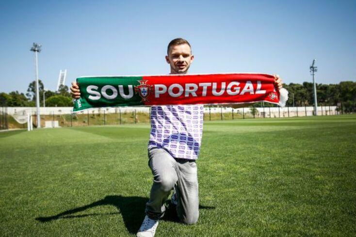 Além do Estádio da Luz, Anthony também visitou a Cidade do Futebol.
