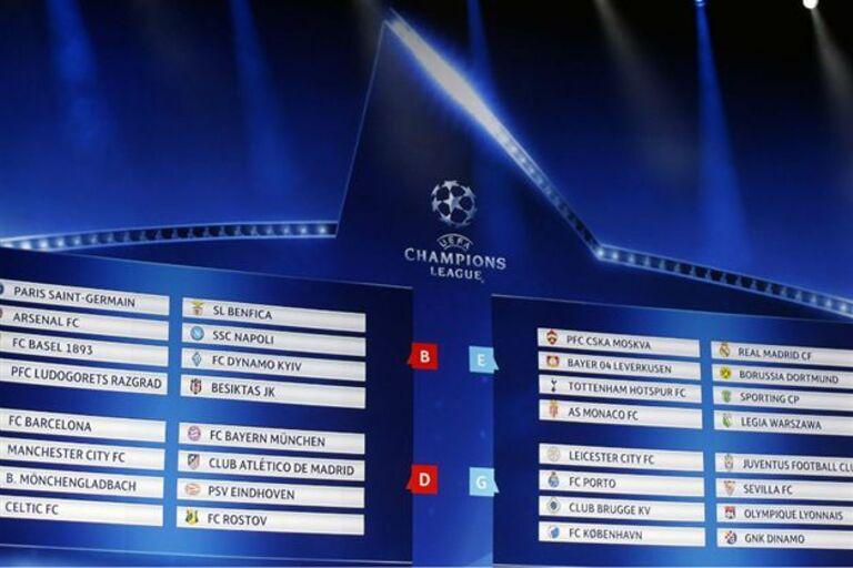 Champion Liga Calendario.Calendario De Jogos Da Fase De Grupos Da Champions