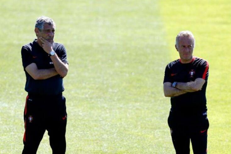 Fernando Santos e Jorge Rosário.