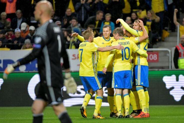 Marcus Berg marca quatro e a Suécia arrasa o Luxemburgo