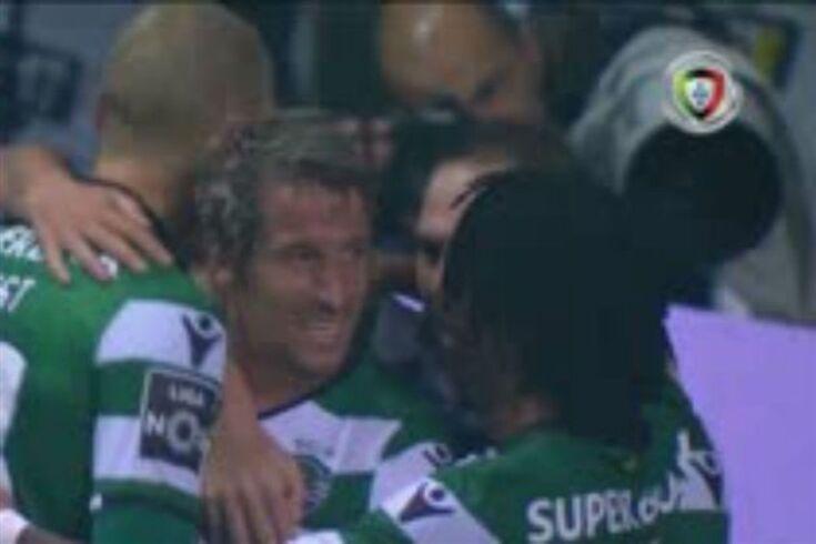 O primeiro golo de Coentrão pelo Sporting. E vale a pena ver a assistência...