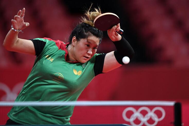 Jieni Shao com as cores de Portugal