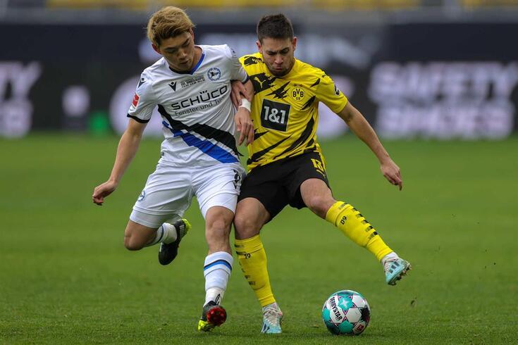 Raphael Guerreiro, lateral-esquerdo português do Dortmund