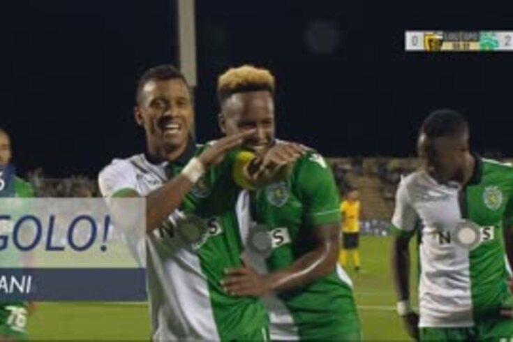 Loures-Sporting: Nani marca e festeja de forma especial