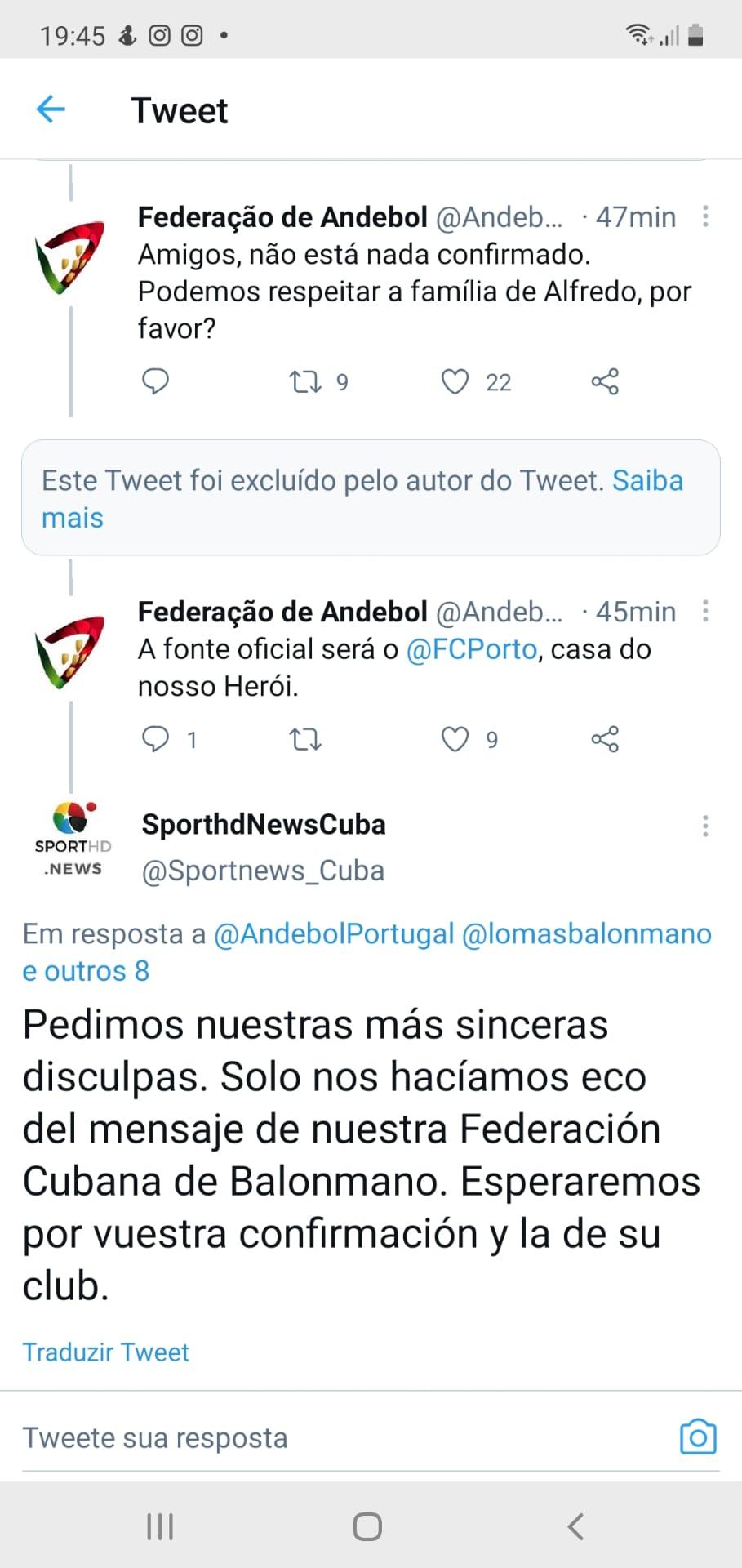Federação cubana lamenta falecimento de Quintana, mas hospital não oficializou óbito