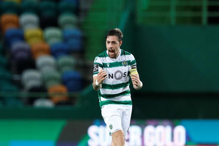 Coates marcou o primeiro golo do Sporting frente ao Belenenses