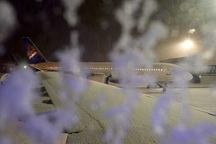 O aeroporto de Astana parou, ou melhor, congelou