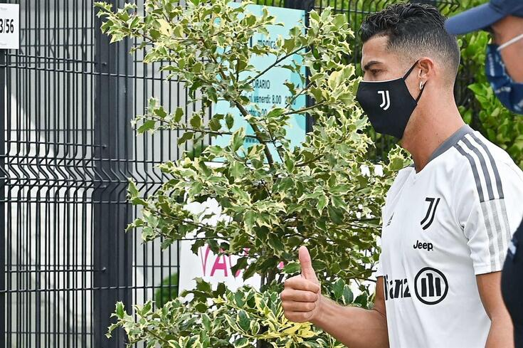 Ronaldo na pré-temporada da Juventus