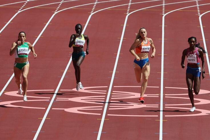 Cátia Azevedo apurada para as meias-finais dos 400 metros