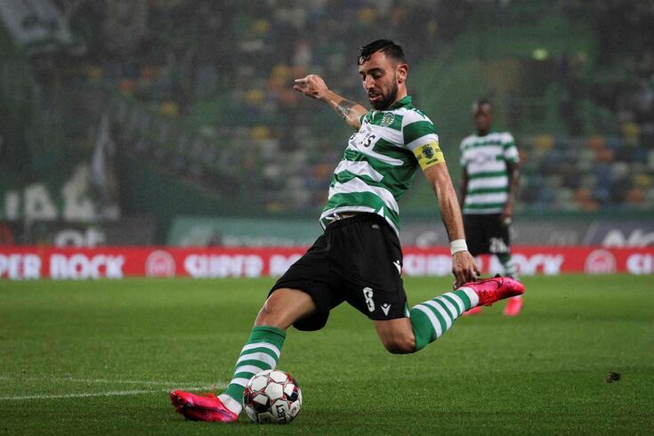 Bruno Fernandes ao serviço do Sporting