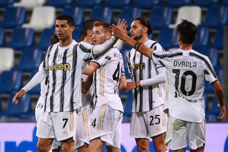 Ronaldo celebra o golo marcado ao Sassuolo