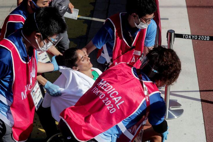 Sara Moreira infeliz nos Jogos de Tóquio
