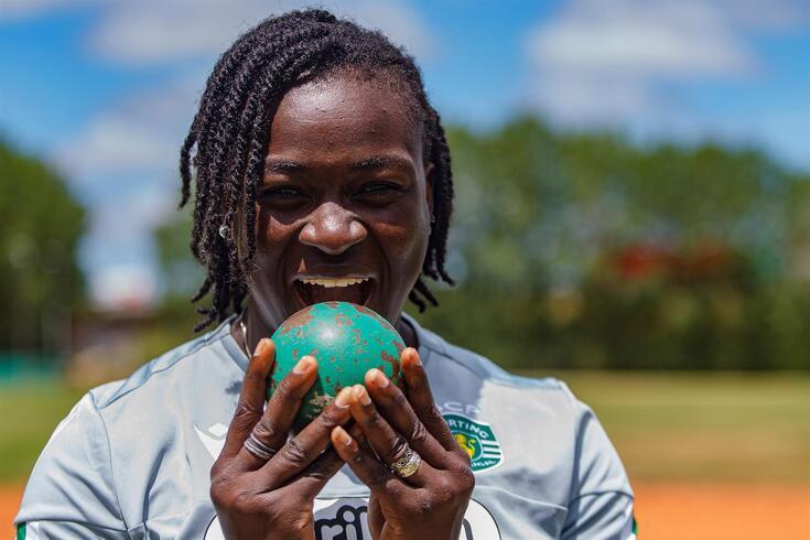 Auriol Dongmo é atleta do Sporting