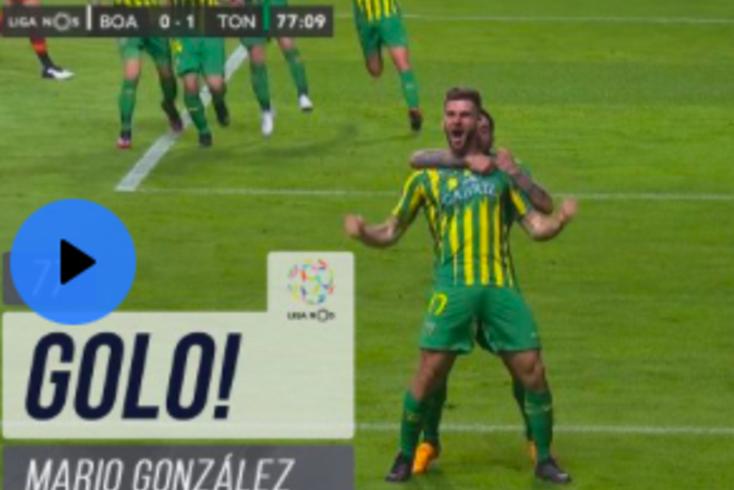 Veja como Mario González desfez o nulo no Boavista-Tondela