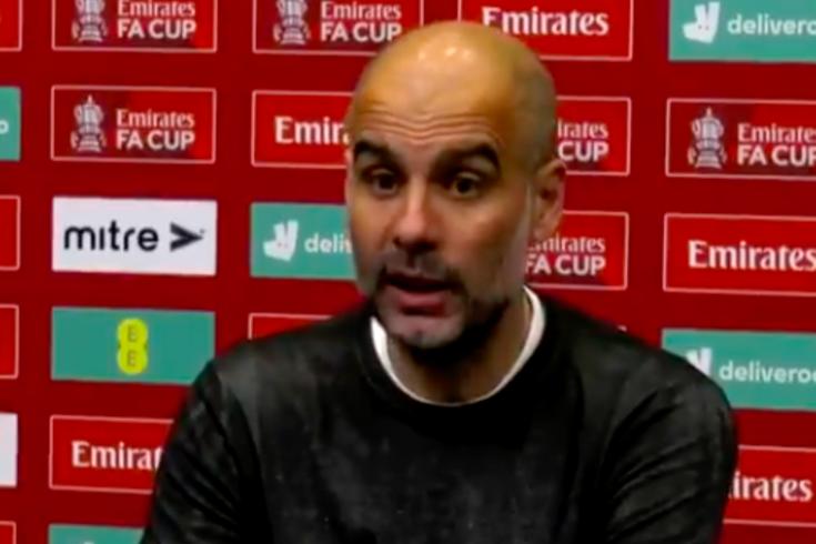 A discussão entre Guardiola e um jornalista após o adeus do City à Taça de Inglaterra