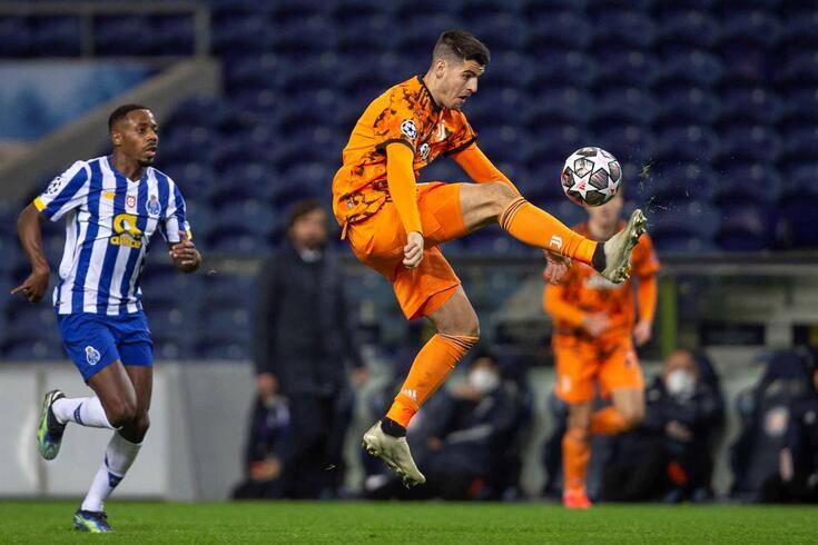 Morata pode falhar o duelo com o FC Porto em solo italiano