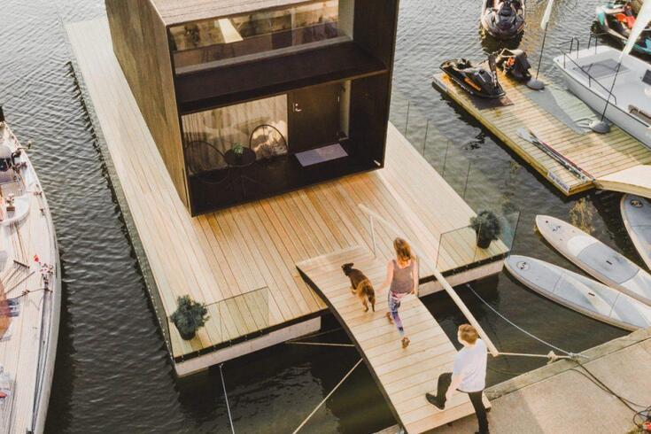 Casa para viver no mar dá novo significado a chão flutuante
